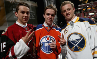 Dylan (left) went third overall in the 2015 NHL Draft.