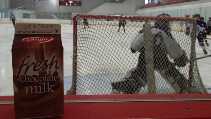 IN THE ZONE The Recharge with Milk Recovery Zone sampled over 2,250 cartons of chocolate milk at GTHL games this season. Don't worry, it'll be back again in the fall!