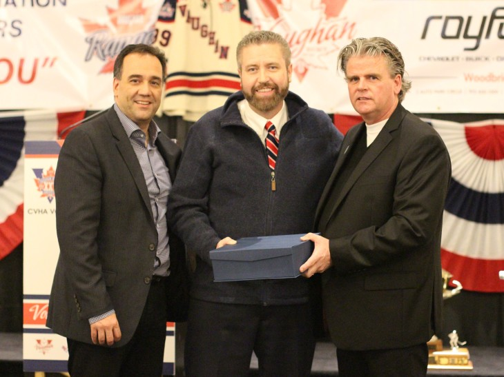 A NIGHT TO REMEMBER The CVHA honoured a number of individuals at their 25th anniversary celebration, including Rocco Alonzi, Michael Bowe and Barry Harte.