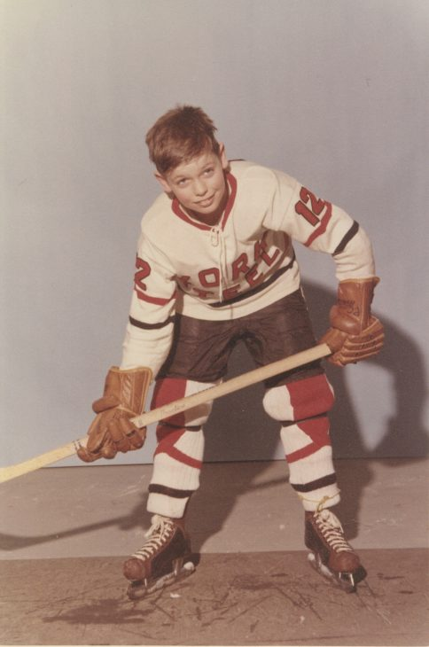Rick in his early GTHL playing days.