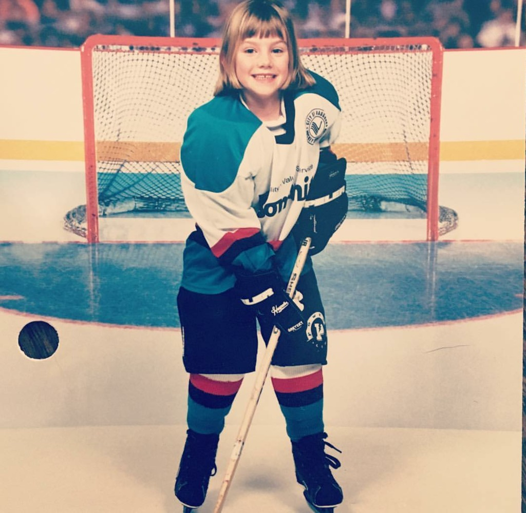 Stacey during her minor hockey years.