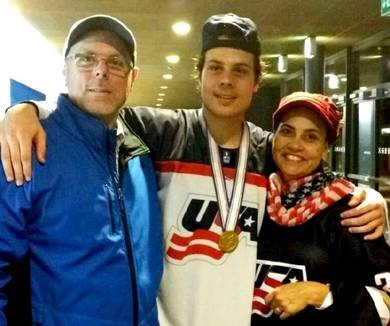 Auston Matthews, son of an American college baseball player and Mexican mother, learned his game on a half sheet of ice in Arizona and then played his first professional hockey in Switzerland.